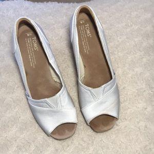 Cork chunky heel